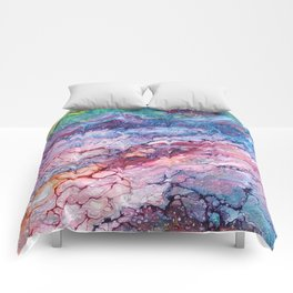 Rainbow Dream Groovy Flow #22 Comforters