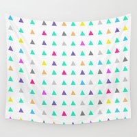 confetti Wall Tapestries featuring Confetti by Leah Flores