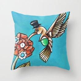 The Humming Bird Throw Pillow