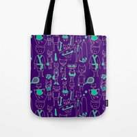 sports Tote Bags featuring les sports by Estelle F
