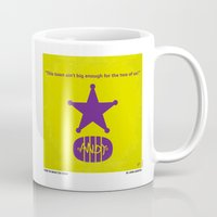 toy story Mugs featuring No190 My Toy Story minimal movie poster by Chungkong
