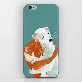 Weasel hugs iPhone Skin
