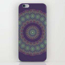 Lotus Mandala in Dark Purple iPhone Skin