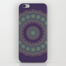 Lotus Mandala in Dark Purple iPhone Skin