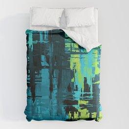 Quoiromantic/Quoisexual Pride Rough Crosshatched Paint Strokes Comforters