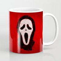 scream Mugs featuring Scream by Bill Pyle
