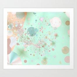 Peppermint and Butterscotch Art Print