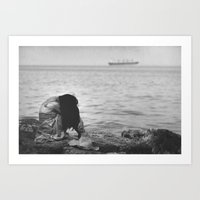 alone Art Prints featuring Alone  by PhotoStories