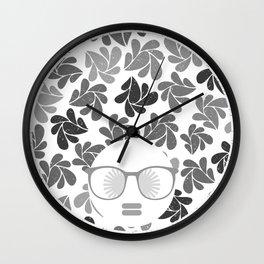 Afro Diva Gray Wall Clock