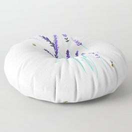 Lavender & Bees Floor Pillow