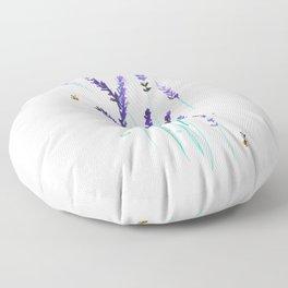 Lavender & Bees Floor Pillow