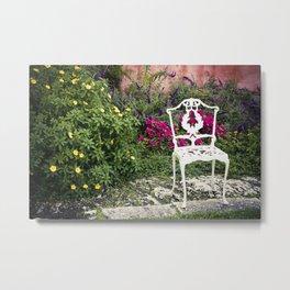 white chair Metal Print