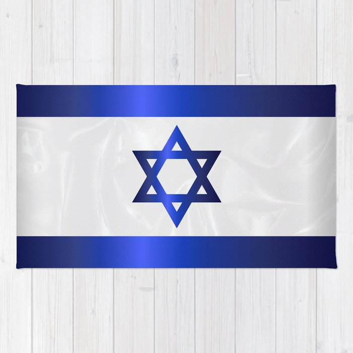 Israel Star Of David Flag Rug
