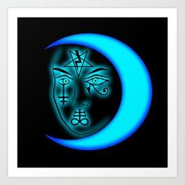 Symbol Face Crescent II Art Print