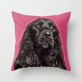 English Cocker Spaniel Dog Digital Art Throw Pillow