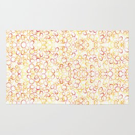 Abstract Gold Rings - Pattern Rug