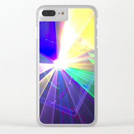 Coloured laser Clear iPhone Case