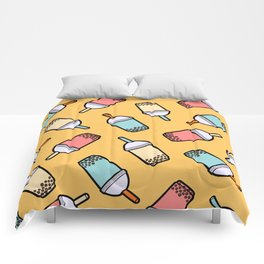 Bubble Tea Pattern Comforters