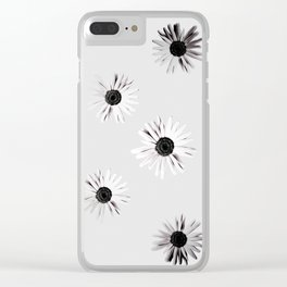 Shadow Box Flowers Clear iPhone Case