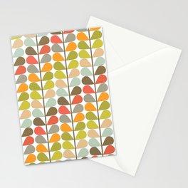 Mid Century Modern Fern Pattern Stationery Cards