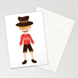 A Perfect Gift For Your Sibling Or Friend An Illustration Of  A Boy With A Hat T-shirt Design Bro Stationery Cards