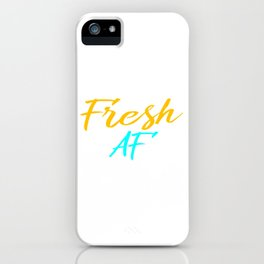 Fresh and cool tee design made for relax and stiff personality! Makes a nice gift too!  iPhone Case