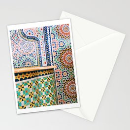 chicago mosaic Stationery Cards
