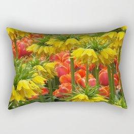 YELLOW CROWN IMPERIAL GREENHOUSE GARDEN Rectangular Pillow