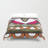 mexico Duvet Covers featuring mexico by NAME THEGREY