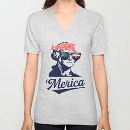 Merica George Washington Unisex V-Neck