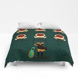 Red vs Cells Comforters