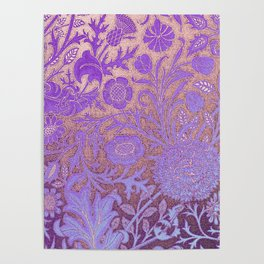 Wiiliam Morris revamped, art nouveau pattern Poster
