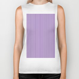 Purple Pinstripes Biker Tank