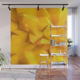 Crystal ploygon yellow Wall Mural