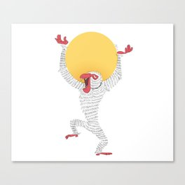 Sun Monkey Canvas Print