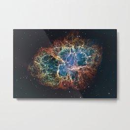 Crab Nebula in constellation Taurus. Supernova Core pulsar neutron star. Metal Print