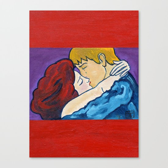 2010 The kiss revisited  Canvas Print