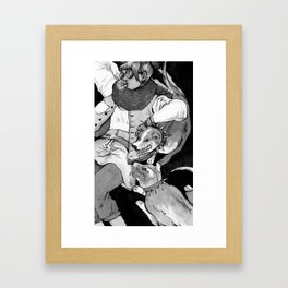 Bite Me (Mutt) Framed Art Print
