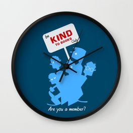 Be kind to books club Wall Clock