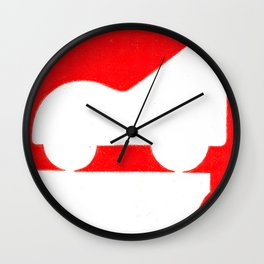 Parkway in Red Wall Clock