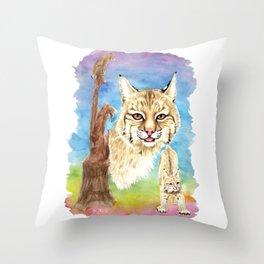 Smalls Bobcat Throw Pillow