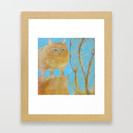 Fat 3 Legged Cat Framed Art Print