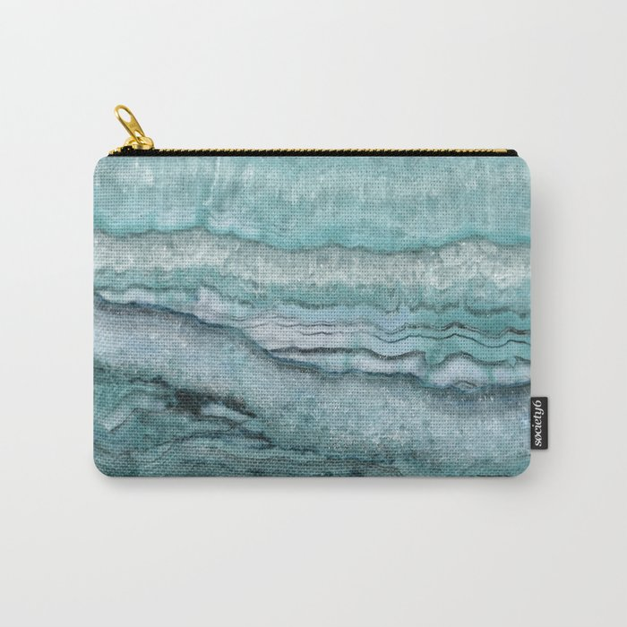 Mystic Stone Aqua Teal Carry-All Pouch