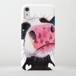 CoW PRiNT ANiMaL PRiNT ' THe NoSeY CoWS ' BY SHiRLeY MacARTHuR iPhone Case