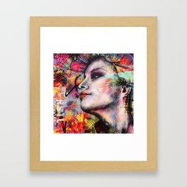 Urban-Girl Original Painting Framed Art Print
