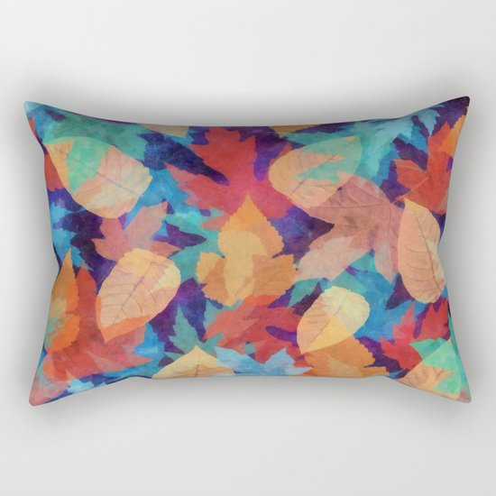 Colorful fallen leaves Rectangular Pillow
