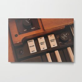 Hammond Switches / Knobs Metal Print