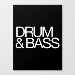 Drum & Bass Canvas Print