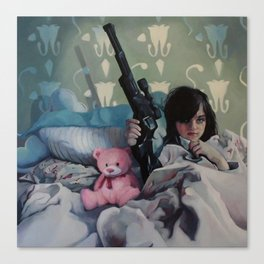 Teddy and Uzi Canvas Print