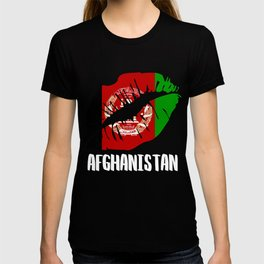 AFG Afghanistan Kiss Lips T Shirt T-shirt